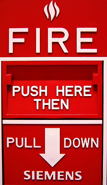 Remember: A fire alarm means STRANGE DANGER. (Who cares about a little ol' conflagration?)