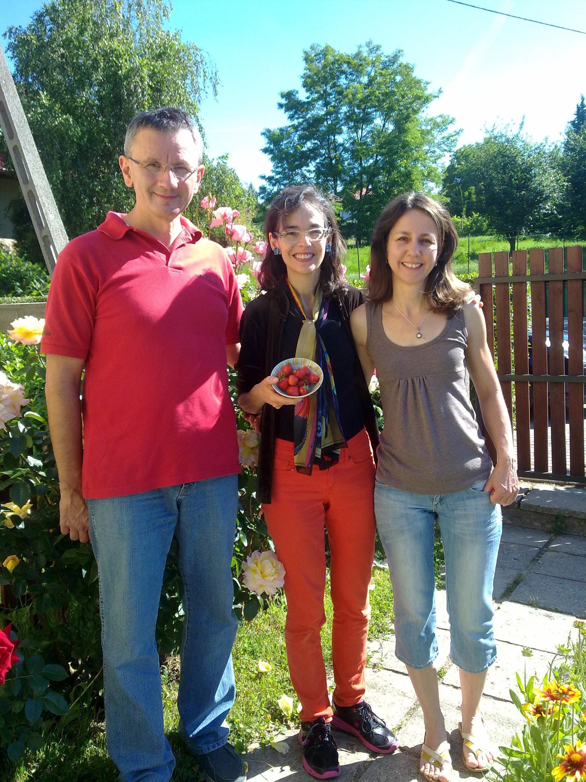 Erno, Lenore, Erika at the Gyori home in Csobanka!