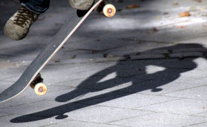 A skateboard accident led, perhaps inevitably, to...