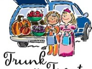 Trunk or treat! Trunk or treat! Let's avoid  each house and street!