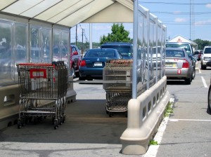 """Is it okay to leave kids """"alone"""" for as long as it takes to return a shopping cart? Debate amongst yourselves."""