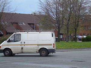 Oh my God -- is that, could it be, oh yes it is: A White van? Our children are DOOMED!!