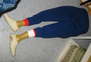Not the actual suspicious leg. But you get the idea. (Photo from Clints Work)