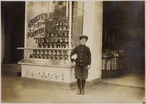 A 10-year-old delivery boy from another era.