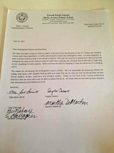 kindergarten letter