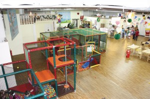 Site of the revolution? No, just a no-rights photo of an indoor playground.