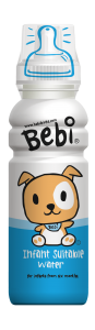 Bebi. The water for babies whose parents have been convinced they need it.