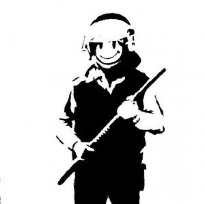 A cop and his stick. (Deviantart)