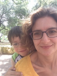 Kari Anne Roy and her son, Isaac. Should he NOT be allowed to play outside?