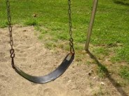 Isn't it strange how this generation automatically associates an empty swing with a missing child who's murdered -- instead of a child who's missing because she's not allowed to go to the park?  Isn't it strange how this generation automatically associates an empty swing with a missing child who's murdered -- instead of a child who's missing because she's not allowed to go to the park?