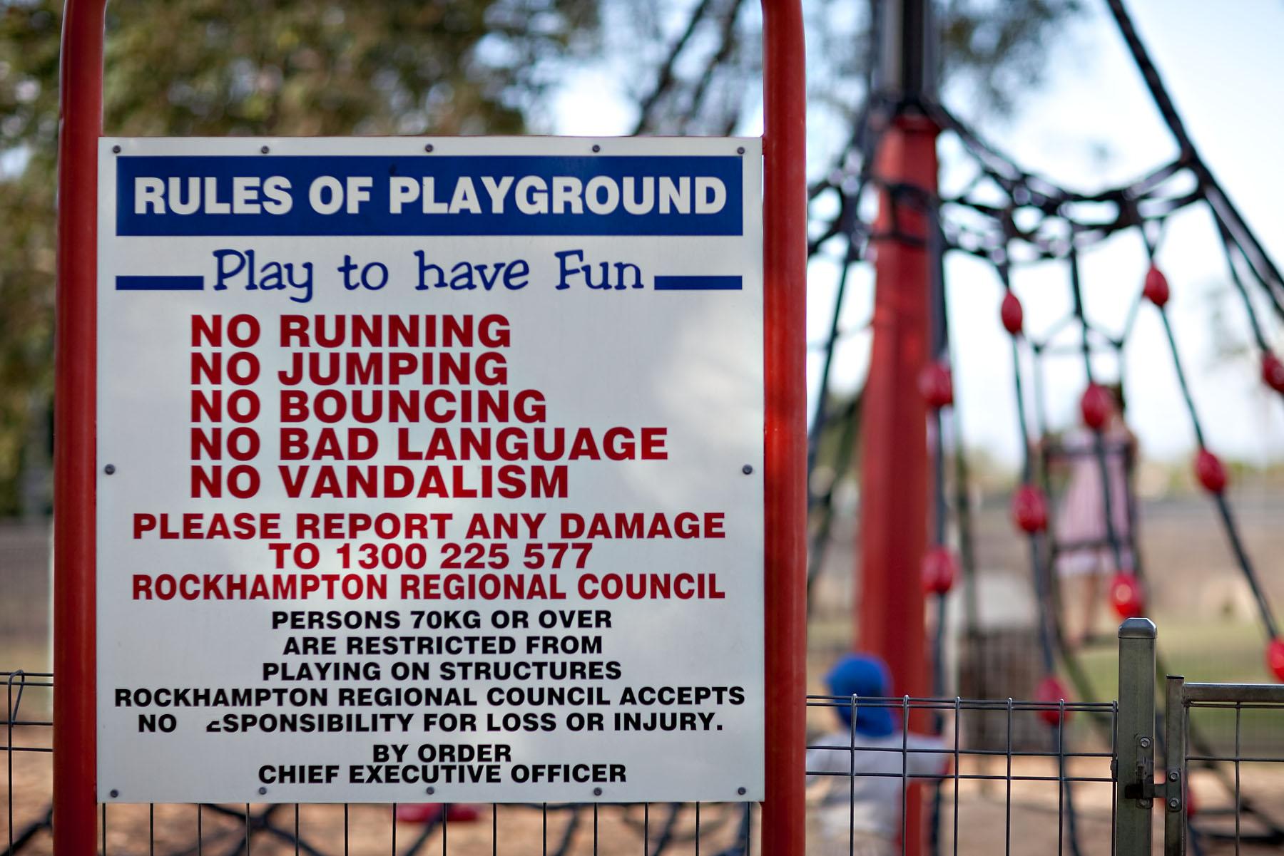 playground rules no jumping free range kids