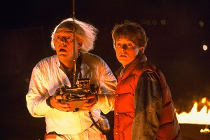 Doc, since you are an adult male, we can longer be friends. (Back to the Future, 1985. Directed by Robert Zemeckis Shown from left: Christopher Lloyd as Dr. Emmett Brown, Michael J. Fox as Marty McFly)