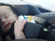 NEWS FLASH: A baby does not automatically die when a parent leaves the car for a brief errand on a mild day. Can we please get over this weird superstition?