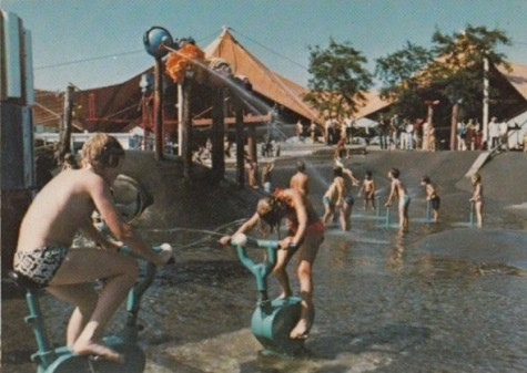 A 1970s day at Ontario Place--Children's Village. (Photo from Allan's Perspective)