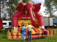 Wiil this elephant turn this family's day into a disaster? (OLYMPUS DIGITAL CAMERA)