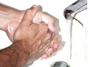 Between handwashings daycare workers may wash their hands.
