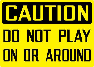 Hey you kids! Whaddaya think this playground is -- a playground?