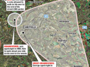 A map of the ever shrinking circumference of childhood, from The Daily Mail.