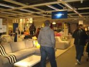 OMG -- there's another one of those creepy things that hang out at Ikea: A MALE! The nerve of some genders!
