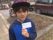 Toby McCrae's son, James Krieder, less and less pumped about the $20 a stranger gave him.