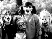 trick or treating kid zombies