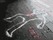 dead body chalk