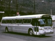 GM New Look bus of 88 Transit Lines Inc. in Pittsburgh, 1984. Photo by Steve Morgan.