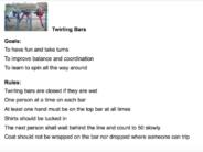 twirling bar rules