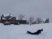 sledding cop