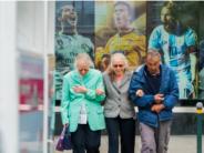 unsplash elderly walking