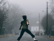 unsplash kid in socks jumping
