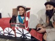 cardboard train kids
