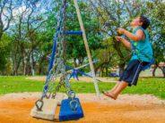 kid at playground alone